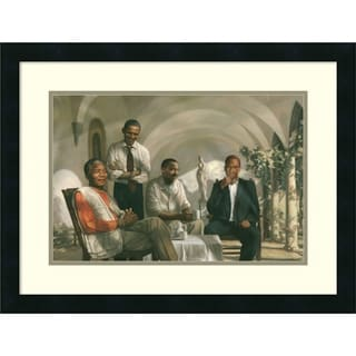 Framed Art Print 'The Pioneers' 25 x 19-inch