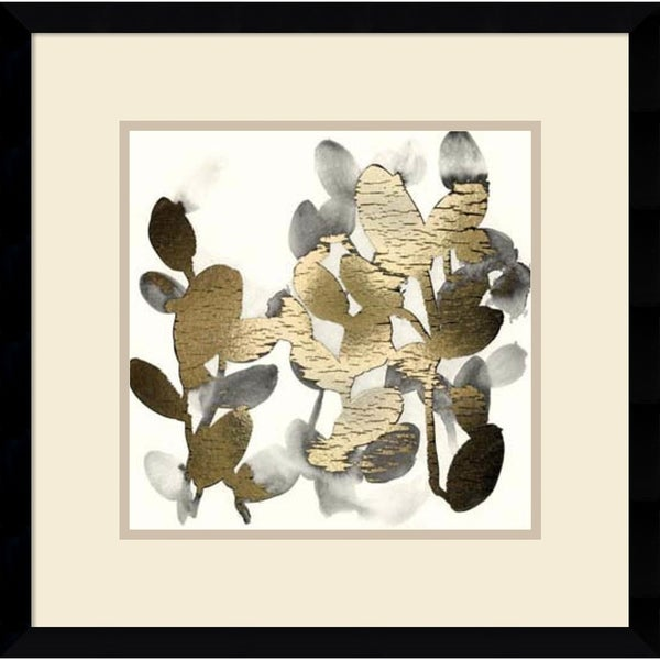 Framed Art Print 'Gilt Garden IV' by June Erica Vess 19 x 19-inch