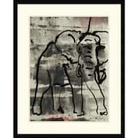 Framed Art Print 'Abstract Elephant I' by Joyce Combs 25 x 31-inch