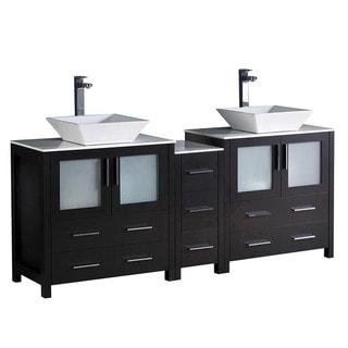 Fresca Torino 72-inch Espresso Double Sink Basin Bathroom Cabinets