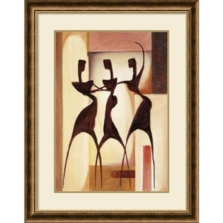 Framed Art Print 'Island Ladies I' by Alfred Gockel 30 x 38-inch