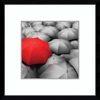 Framed Art Print 'Individuality Unbrella' 20 x 20-inch