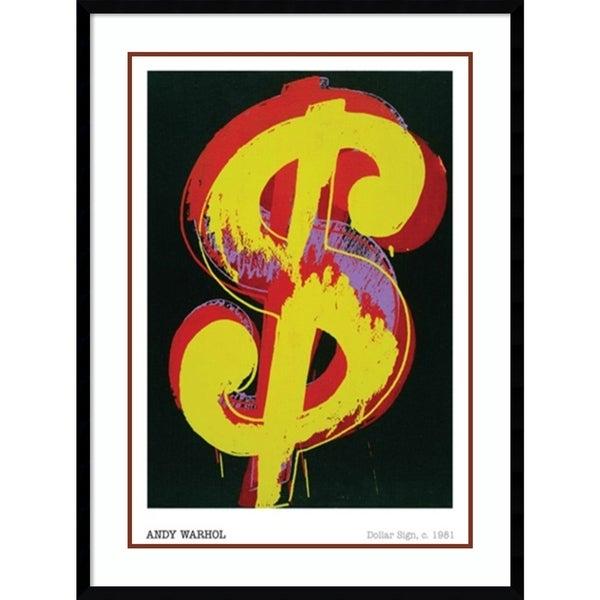 Framed Art Print \'Dollar Sign, 1981\' by Andy Warhol 30 x 40-inch ...