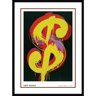Framed Art Print 'Dollar Sign, 1981' by Andy Warhol 30 x 40-inch