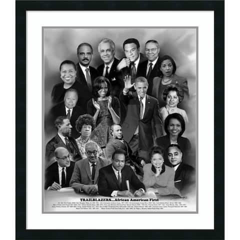 Framed Art Print 'Trailblazers: African American First' 27 x 31-inch