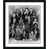 Framed Art Print 'Trailblazers: African American First' 27 x 31-inch