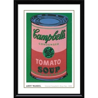 Framed Art Print 'Colored Campbell's Soup Can, 1965' by Andy Warhol 31 x 43-inch