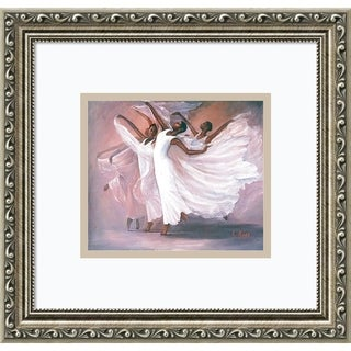 Framed Art Print 'Angel Wings' by Lavarne Ross 16 x 14-inch