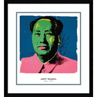 Framed Art Print 'Mao, 1972' by Andy Warhol 22 x 24-inch
