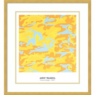 Framed Art Print 'Camouflage, 1987' by Andy Warhol 22 x 24-inch