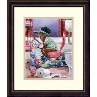 Framed Art Print 'The Thinker' by Frank Morrison 14 x 16-inch