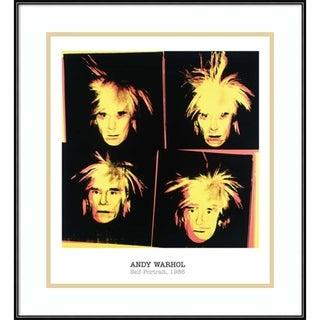Framed Art Print 'Self-Portrait, 1986' by Andy Warhol 21 x 23-inch