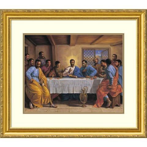 Framed Art Print 'Last Supper' by Sarah Jenkins 30 x 25-inch