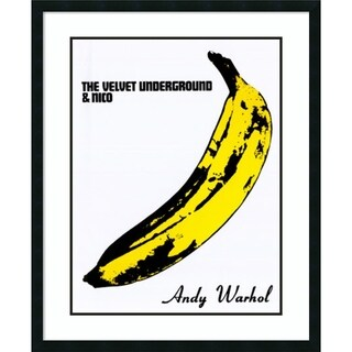 Framed Print 'The Velvet Underground & Nico(Banana)' by Warhol 33x42in