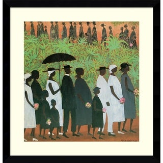 Framed Art Print 'Funeral Procession' by Ellis Wilson 20 x 20-inch