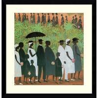 Framed Art Print 'Funeral Procession' by Ellis Wilson 20 x 20-inch