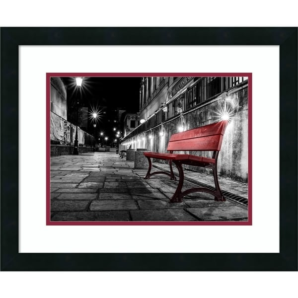 Framed Art Print 'Night Bench' by L. Outchill 22 x 18-inch