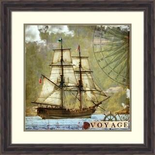 Framed Art Print 'Voyage' by Sandy Lloyd 26 x 26-inch