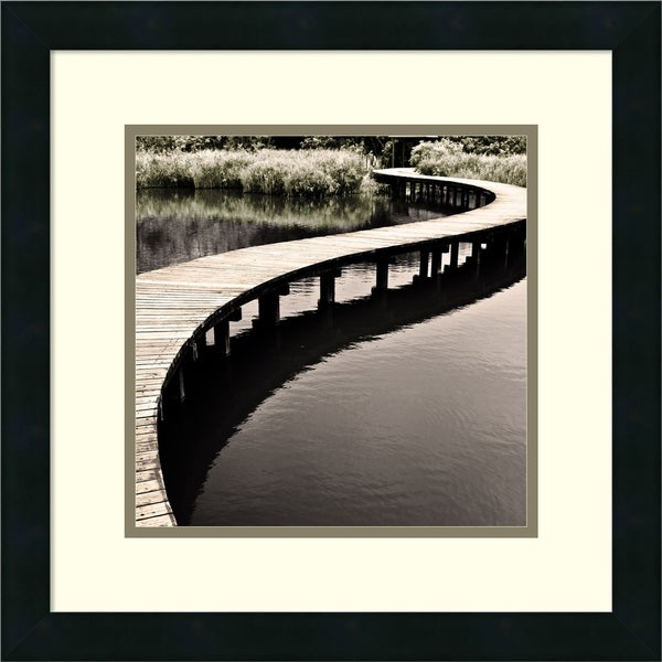 Framed Art Print 'Water Walkway' by Eric Chan 18 x 18-inch