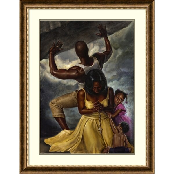 Framed Print 'Behind Every Great Man' by WAK-Kevin A.Williams 34x44-in