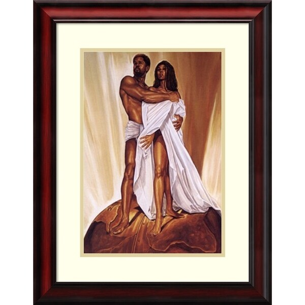 Framed Art Print 'Power of Love' by Wak - Kevin A. Williams 20 x 25-inch