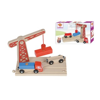 Eichhorn Train Wooden Train Loading Crane