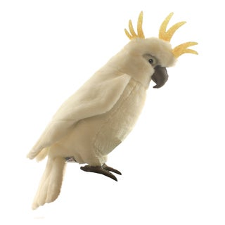 Hansa 11 Inch Plush White Cockatoo