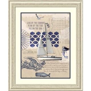 Framed Art Print 'Current Tide Sun' by Sandy Lloyd 28 x 34-inch