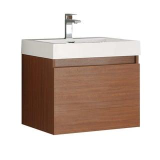 Fresca Nano Teak Modern Bathroom Cabinet w/ Integrated Sink