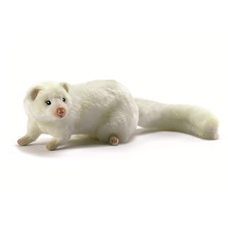 Hansa 12 Inch Plush White Ferret