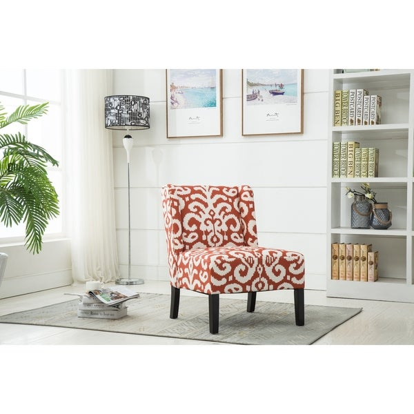 Best Quality Furniture Red Floral Accent Chair