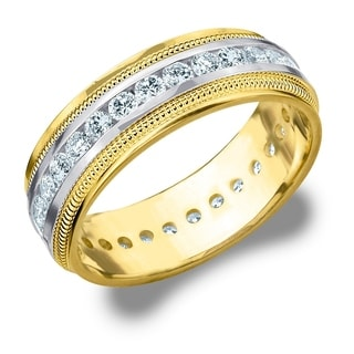 TwoTone Mens Wedding Bands Groom Wedding Rings For Less