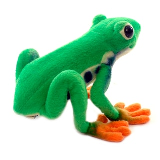 Hansa 7 Inch Plush Green Tree Frog