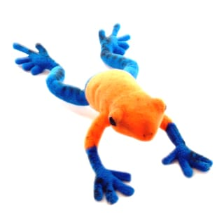Hansa 7 Inch Plush Blue Dart Tree Frog