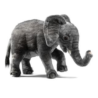 Hansa 12 Inch Plush Standing Elephant