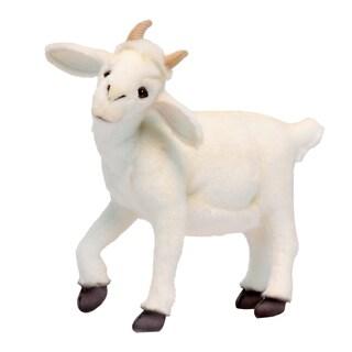 Hansa 14.5 Inch Plush White Baby Goat
