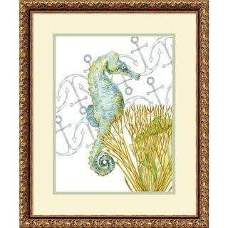 Framed Art Print 'Undersea Creatures I Seahorse' by Melissa W 19 x 23-inch