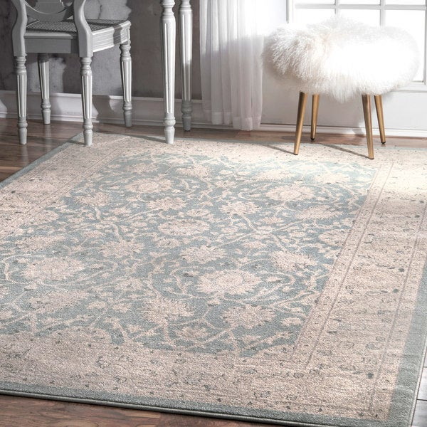 nuLoom Traditional Persian Vintage Blue Rug - 10' x 14'