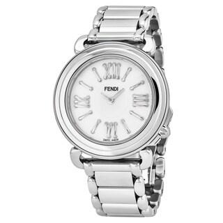 Fendi Women's F8010345H0.BR86 'Selleria' Mother of Pearl Dial Stainless Steel Bracelet Swiss Quartz Watch