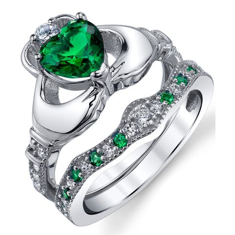 c390299ee9284 Claddagh Rings | Find Great Jewelry Deals Shopping at Overstock