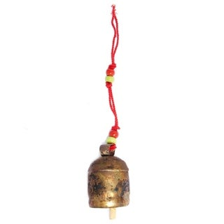 Handcrafted Handmade Copper Bell - 4 inch (India)