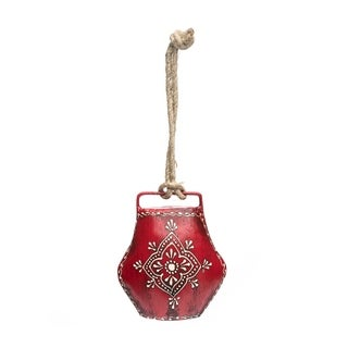 Handcrafted Henna Treasure Bell - Large Red (India)