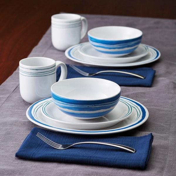 Rachael Ray Brushstrokes Stoneware Dinnerware Set - Free Shipping ...