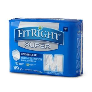 Medline FitRight Super Protective Underwear (Pack of 80)