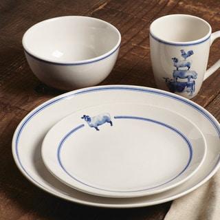 Paula Deen Country Barnyard Stoneware Dinnerware 16-Piece Set