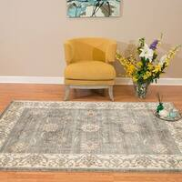 Westfield Home Royale Milagros Blue/Grey Accent Rug - 3'11 x 5'10