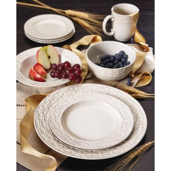 Shop Paula Deen Vineyard Basket Stoneware Dinnerware Set Free