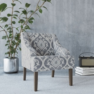 Harrison Floral Fabric Tufted Club Chair By Christopher