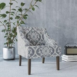 HomePop Classic Swoop Accent Chair - Suri Blue