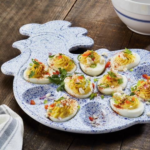 Paula Deen Signature Stoneware Rooster Egg Tray